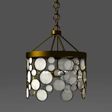 emery recycled glass pendant 3d model chandelier c94