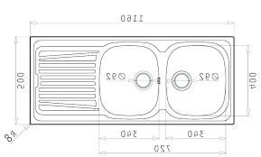 sink dimensions average kitchen size typical depth