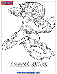 Small Picture Skylanders Swap Force Water Freeze Blade Coloring Page H M