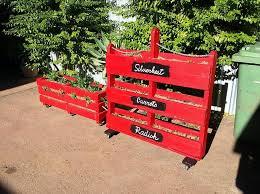 pallet vertical vegetable garden and strawberry planter box