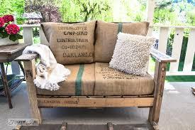 burlap furniture. pallet wood outdoor sofa bean bag pillows httpwwwfunkyjunkinteriors burlap furniture n