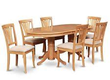 east west 9pc dining set vancouver oval table 8 avon padded chairs light oak ebay