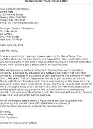 Cover Letter For Entry Level Qa Tester Cover Letter For Tester For