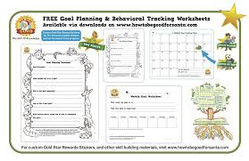 Free goal planning worksheets and behavior tracking charts