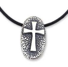 men s handcrafted cross sterling silver