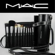 16pcs professional cosmetic mac makeup brushes set with pu leather cover amazon co uk beauty