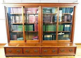 bookshelves with glass doors bookcase with sliding glass doors bookcase with sliding glass door bookcase with