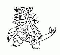 Small Picture Legendary Pokemon Armaldo coloring pages for kids pokemon