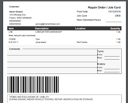 How To Print A Job Card Workshop Software