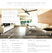 how to size a ceiling fan ceiling fan size for room size ceiling fan room size