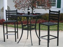 high top table patio set aluminum patio furniture ansley luxury 2 person all welded cast high top table patio set