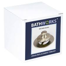 bathworks 4 in x nickel diy easy bathtub drain and