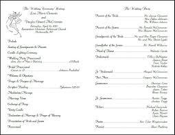 Christian Wedding Bulletins