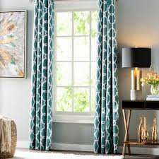 Teal Patterned Curtains Enchanting Teal Patterned Curtains Wayfair