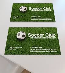 Soccer Business Card Soccer Business Card Unique Business Cards