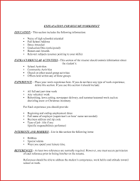 Extra Curricular Activities In Resume Simple Extracurricular Activities Resume Template Valid Part 48