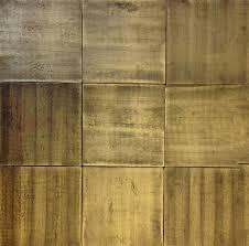 6 x 6 recycled brass tile in antique brushed finish these are solid hand casteco friendlyflooringtileteriorbrass