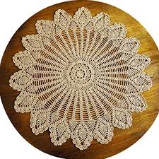 mmei 31 inches handmade crochet pure cotton tablecloths round table cover lace table covering doilies for furniture decor weddings designer table cloth