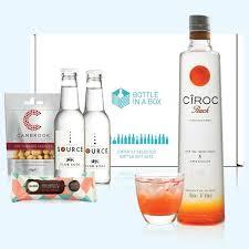 cîroc peach vodka gift set