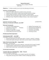Entry Level Pharmacy Technician Resume