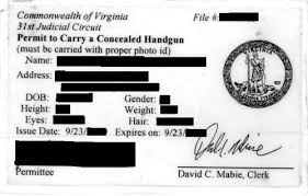 Virginia Permit Information Concealed Carry