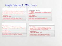 Sample Apa Citations Text Images Music Video Glogster Edu