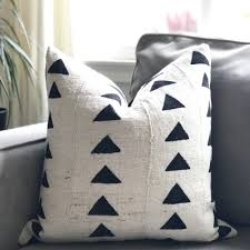 black and cream pillows. Wonderful Black LIMITED 021  Triangle Mudcloth Pillow Cover Cream For Black And Pillows H