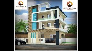 indian home design ideas. brown stone tile indian home front design with glass balcony | modern house ideas m
