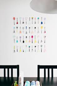 Perfect Kitchen Decorations For Walls Colorful Wall Art Using Spoons And Decorating