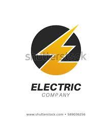 Template Logo Electric Company Customer Service Stock Vector