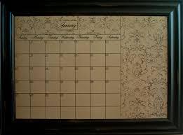 calendar dry erase board framed black xl mocha wall calendar