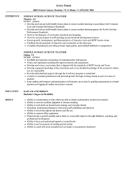 Now that you've seen an example of a job winning online teacher resume, here are some tips to help you write your own. Middle School Science Teacher Resume Samples Velvet Jobs