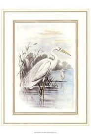 on white heron wall art with white heron by f w frohawk
