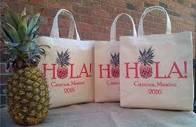 destination wedding gift bags. Wonderful Bags Hola Pineapple Destination Wedding Welcome Bag Personalized Handmade  Favor Gift Bag Intended Bags T