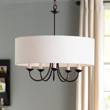 andover mills burton 5 light drum chandelier reviews wayfair with regard to elegant household 5 light drum shade chandelier decor home dining room