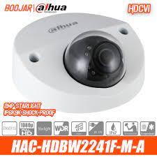 Dahua HAC HDBW2241F M A 2MP mobil HDCVI IR Dome kamera dahili mikrofon  akıllı IR 20m IP67 IK10 IP6K9K şok geçirmez|Surveillance Cameras