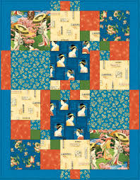 Japanese Afternoon Quilt Pattern from Springs Creative ... & Japanese Afternoon Quilt Adamdwight.com