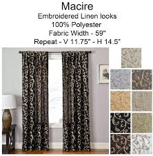 100 inch curtains. 100 Inches Curtains Embroidered Scroll Leaf Pattern In Extra Long Length Inch Or Standard Size Scarf Swag Top Window Treatments T