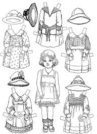 Small Picture 44 best Paper dolls BW Kids images on Pinterest Adult coloring