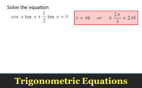 12 trigonometric equations solve the equation