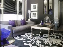 Image detail for Pops of Violet Black white and silver modern