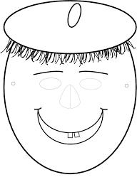 Maskers Kleurplaten