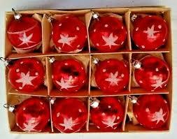 15 Alte Weihnachtskugeln Christbaumschmuck Lauscha Rot Mit