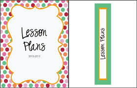 lesson plan book cover template 18 best binder templates images on binder templates