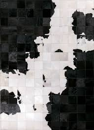 cowhide patchwork rug white