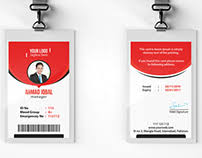 company id card templates corporate office id card template on behance