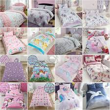 unicorn duvet cover sets kids girls