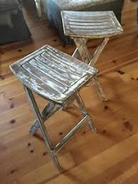 white rustic bar stools. Wonderful Rustic Image Is Loading RusticBarStoolsCollapsibleWhiteShabbyChicBar To White Rustic Bar Stools W