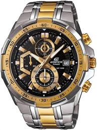 edifice watch for men by casio analog chronograph metal 478 98 aed brand casio watch shape round