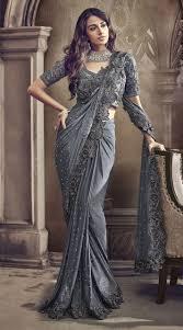 Designer Saree 2019 Grey Designer Sarees Designer Sarees Wedding Indian